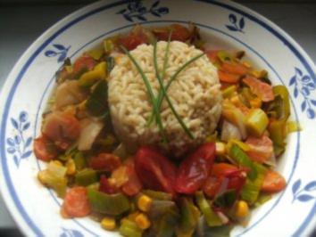 Reis im Gemüsebett - Rezept