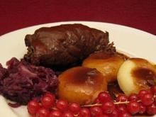 Schlesische Klöße mit Rinderrouladen und Rotkohl - Rezept
