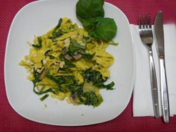 Tagliatelle grün-weiß - Rezept