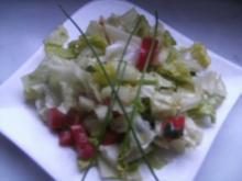 Salatbeilage mit einem Senfdressing - Rezept