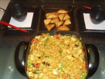Rezept: Pfannengerichte: Asiatische Hühnchen-Nudelpfanne