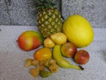 gelber Obstsalat - Rezept