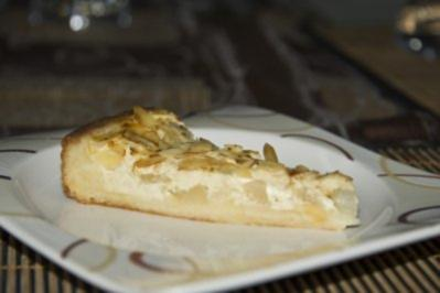 Birnen-Marzipan-Tarte - Rezept