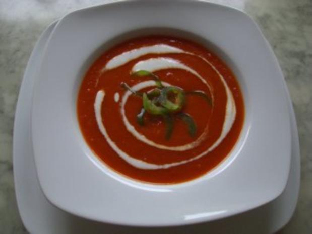 Rote Paprikacremesuppe nach Weight Watchers - Rezept