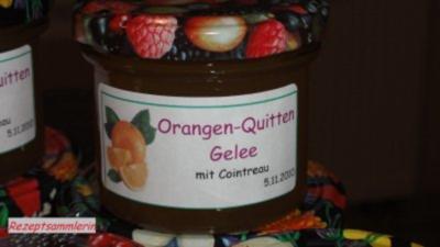 Rezept: M+G:  QUITTEN - ORANGEN - GELEE