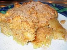DESSERT: Zwieback-Apfelauflauf + Vanillesoße - Rezept