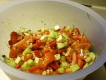 Hirtensalat mit selbsteingelegtem Schafskäse - Rezept