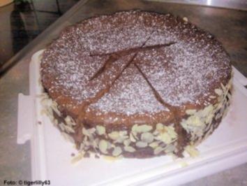 Schokoladen-Käsekuchen-Torte - Rezept