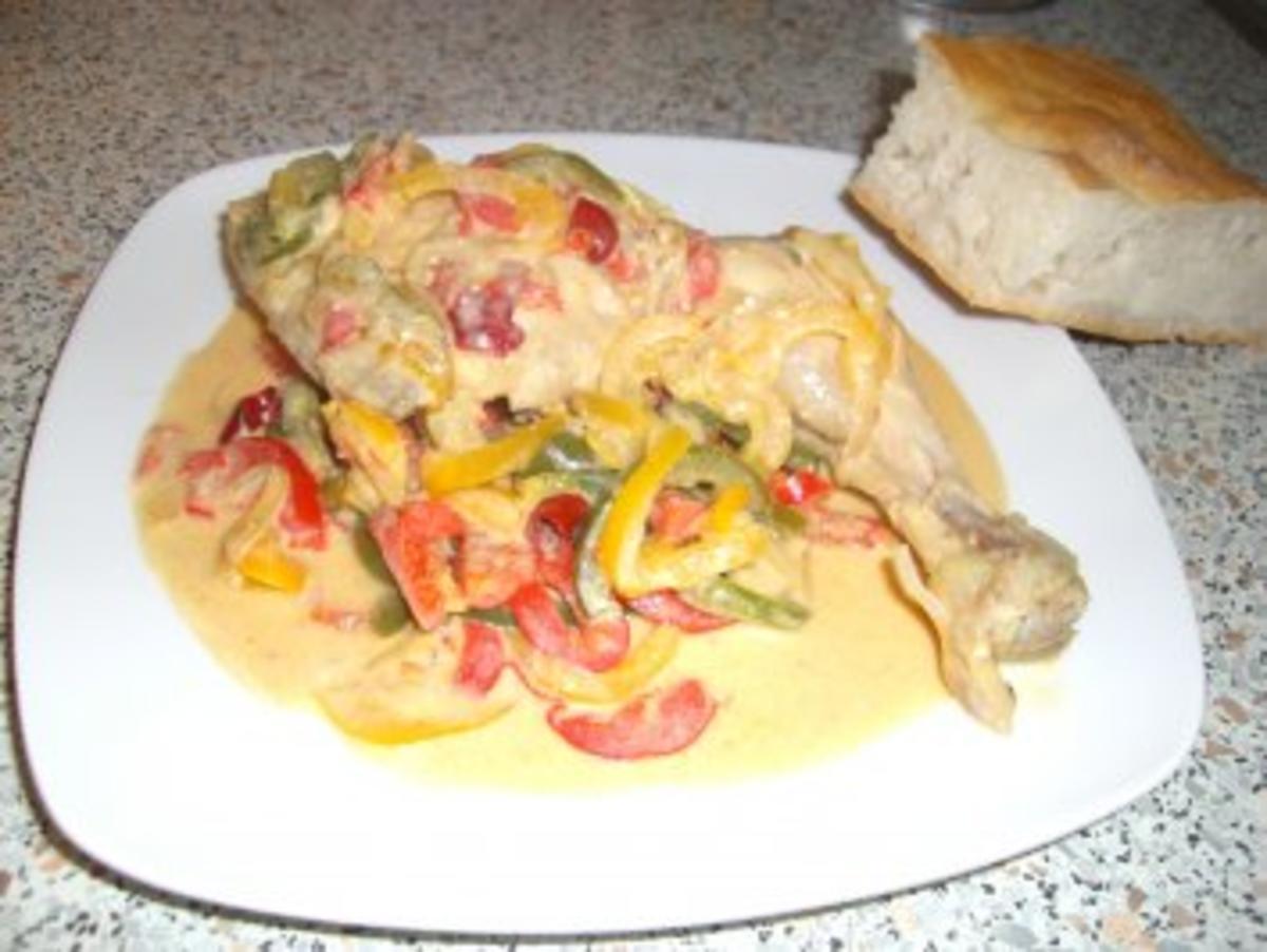 Pollo con rajas à la Juan - Rezept Eingereicht von sweetyhoneypie