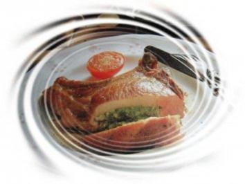 Mit Kräutern gefüllte Koteletts - Rezept