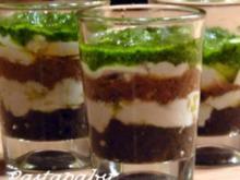 Tricolore im Glas - Rezept