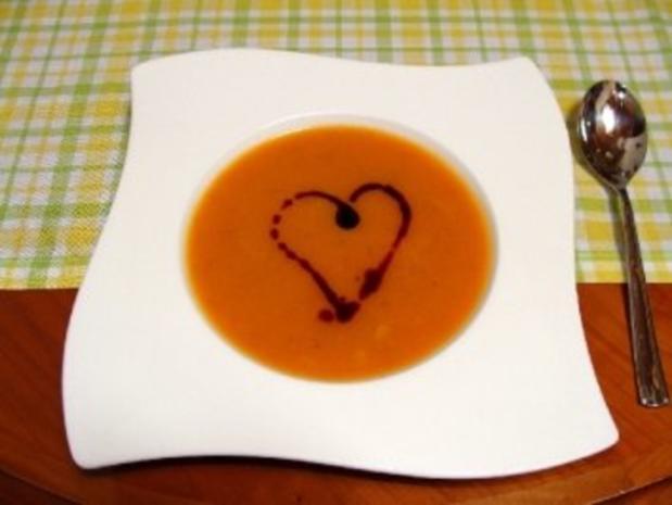 Kürbis-Suppe mit Garnelen - Rezept