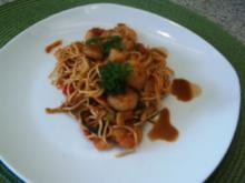 Asiatische Garnelenpfanne - Rezept