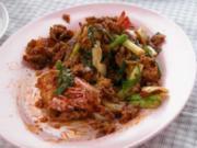 Knuspriger Schweinebraten mit chin. Broccoli(Kana Moo Krob) - Rezept