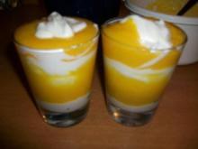 Quark Pfirsich Dessert - Rezept