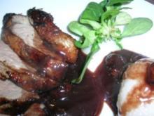 Enten(brust)-Sauerbraten, nicht verwechseln mit einem  herkömmlichen Sauerbraten - Rezept