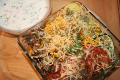 Rezept: Gemüse-Raclette aus dem Ofen