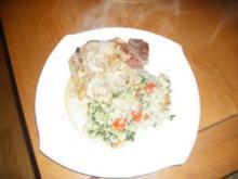 Koteletts mit Pilzsoße - Rezept