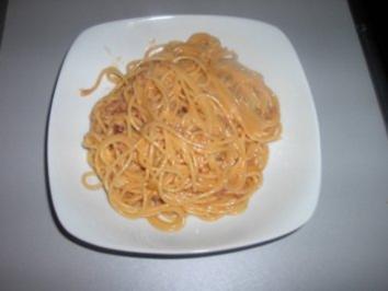 Schinken - Sahne - Spaghetti - Rezept