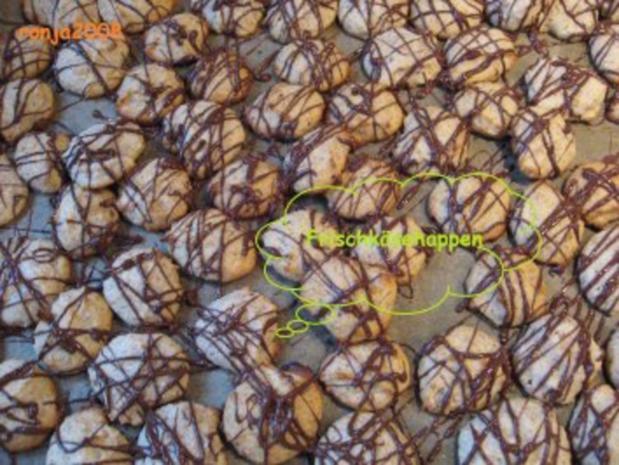 Weihnachtsplätzchen- Frischkäsehappen - Rezept