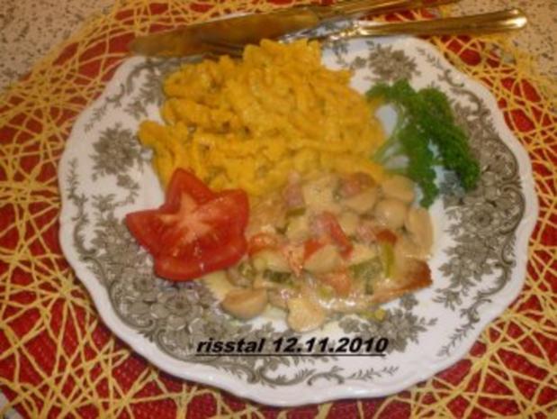 Kürbis- Spätzle - Rezept
