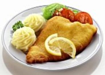 Kartoffelbrei mit Backfisch - Rezept