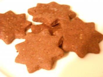 Weihnachten - Schoko-Gewürz-Sterne - Rezept