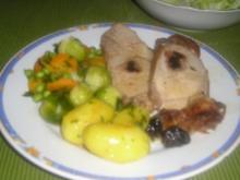Schweinskarree mit Chillipflaumen - Rezept