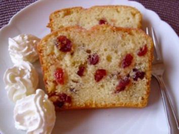 Rührkuchen mit Cranberries - Rezept