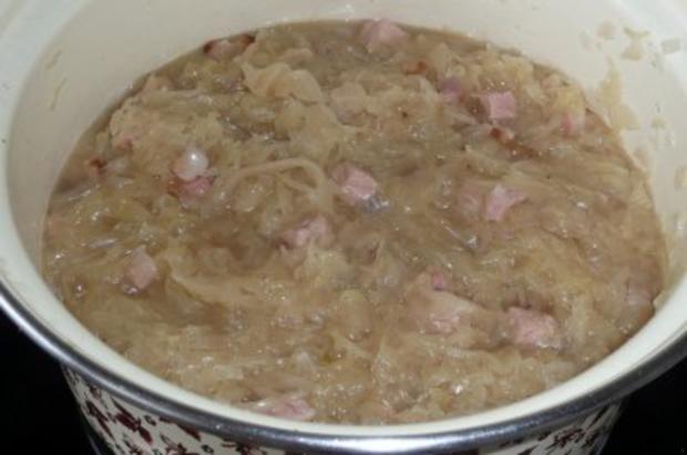 Eintopf: Sauerkraut mit Kasseler, gerösteten Paprikaschoten und Crème leicht - Rezept - Bild Nr. 3