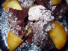 Schoko-Schmarrn mit karamellisierten Apfelscheiben - Rezept
