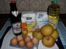 Apfelküchle im Zimt-Bierteig .... Besuch hat sich angemeldet .. und kein Kuchen im Haus !! - Rezept