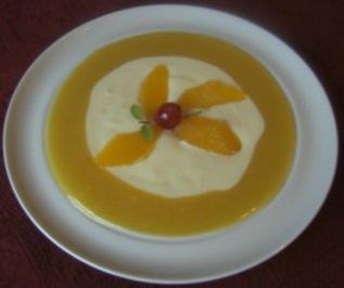 Weiße Schokoladen - Orangen - Suppe - Rezept