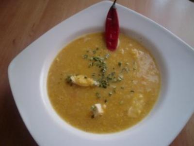 Maissuppe mit Putenbrust - Rezept
