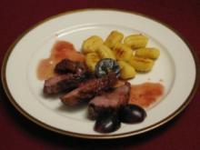 Entenbrustfilet in roter Traubensoße mit knusprigen Gnocchi - Rezept