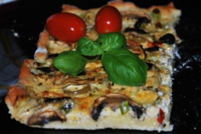 Veggi-Pizza...vegetarische Pizza ohne Tomatensoße - Rezept