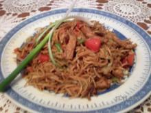 Gebratene Nudeln chinesisch - Rezept