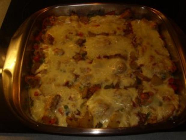 Aufläufe: Gemüse mit Raclettekäse überbacken - Rezept