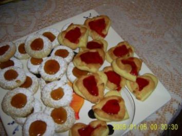 Marzipan-Gelee-Herzen  Weihnachtsbäckerei - Rezept