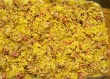Auflauf: Kartoffel-Pilz-Auflauf - Rezept