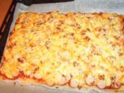 Hot Dog-Pizza... auf die Schnelle - Rezept