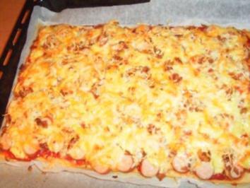 Rezept: Hot Dog-Pizza... auf die Schnelle