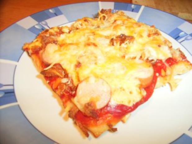 Hot Dog-Pizza... auf die Schnelle - Rezept - Bild Nr. 8