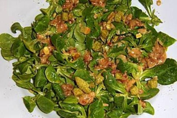 Trockner Speck : Feldsalat mit speck sahne sauce rezept kochbar
