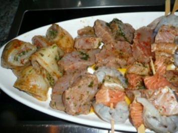 Grill Spiesse Fisch Rezept Mit Bild Kochbar De