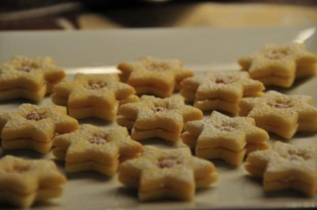 Weihnachtsplätzchen - Marmeladeherzen und -sterne - Rezept - Bild Nr. 3