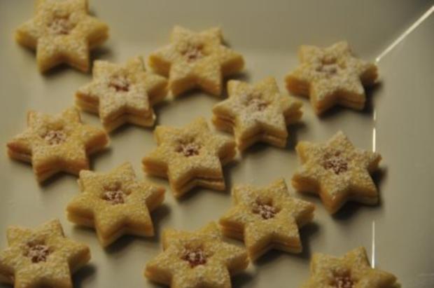 Weihnachtsplätzchen - Marmeladeherzen und -sterne - Rezept - Bild Nr. 4