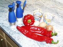 Paprikaschoten mit Käsefüllung - Rezept
