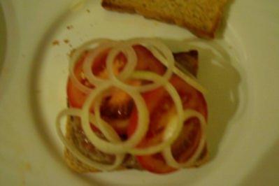 Zwischensnack: Hamburger-Toast - Rezept