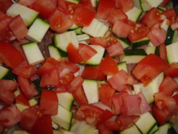 Fisch : Lachs im feinen und frischen Gemüseauflauf - Rezept - Bild Nr. 4